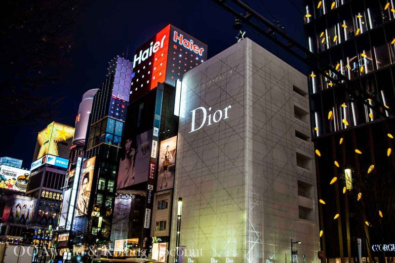 Ginza Tokyo Japan Luxury Shopping District Photo Ooaworld
