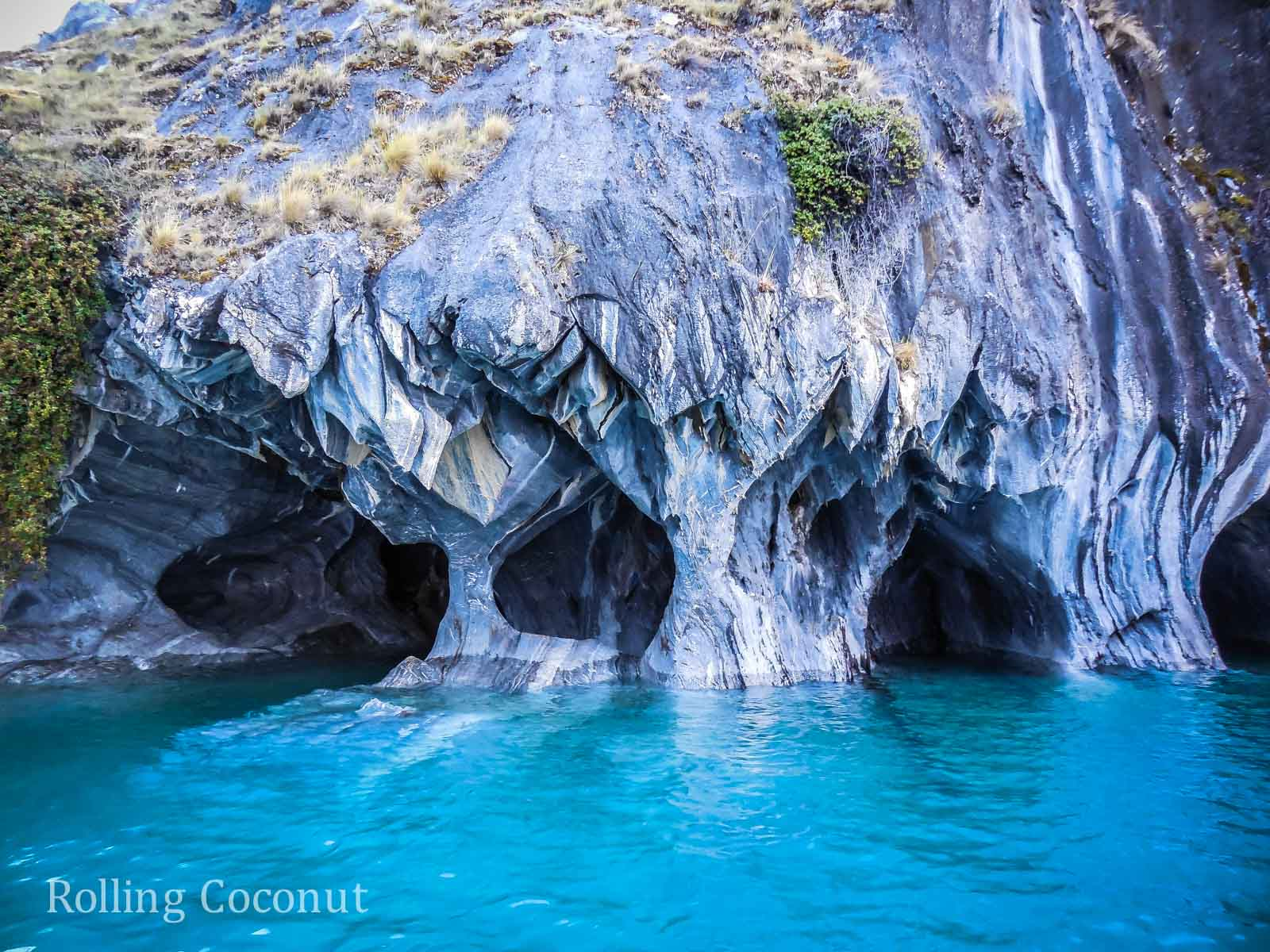 Puerto Rio Tranquilo Chile Waterfront Marble Caves Sanchez 3 Rolling Coconut OOAworld Photo Ooaworld